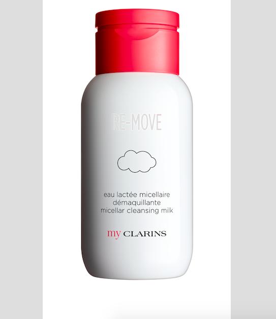 Osvěžující voda z nové řady My Clarins, příjemná jako mléko, RE-MOVE Cleansing Milk, cena 500 Kč.