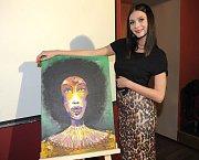 Ve prospěch nadace Skládej se dražil i obraz modelky Terezy Zimové