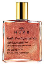 uchý multifunkční olej Gold Huile Prodigieuse se zlatými třpytkami, Nuxe, 100 ml 890 Kč