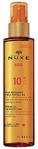 Opalovací olej pro obličej a tělo Tanning Oil SPF 10, Nuxe, 520 Kč.