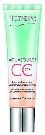 Hydratační Aquasource CC gel propůjčuje efekt opálení, Biotherm, 30 ml 670 Kč.