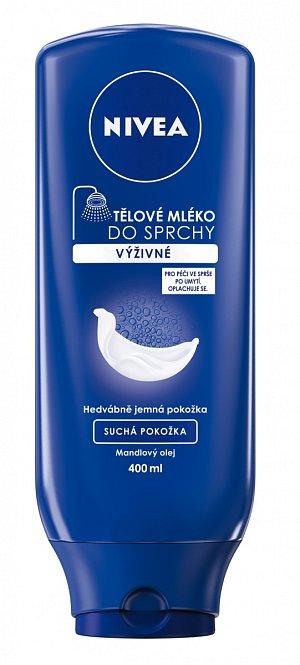Osvědčené je také Nivea Výživné hydratační tělové mléko do sprchy (115 Kč). Nejen že krásně hydratuje, ale také neuvěřitelně šetří čas. Stačí jej nanés ve sprše po použití sprchového gelu a spáchnout. Tělo je namazané a vláčné doslova za pár vteřin.