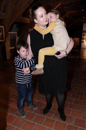 Manželka Jana Saudka Pavla s dětmi Matějem a Annou Marií nemohli chybět.