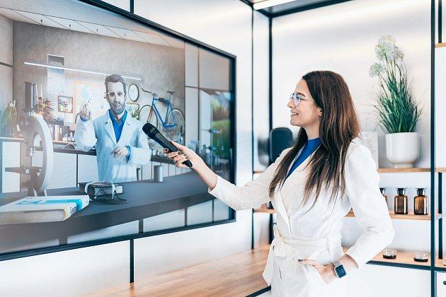 Technologie Motion Capture live umozňuje interaktivní hovor svirtualním profesorem Dohořelem