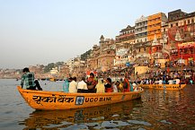 Řeka Ganga - východ slunce