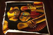 """""""Obrazy miluju, i proto jsem si nakoupila na Kubě na tržišti spoustu krásných pláten s černošskou tematikou. Jeden mne zaujal mezi všemi -je na něm matka s dcerouaholčička má modré oči jako Máňa, přestože jsou obě černošky... Chápete?!? To mne úplně fa"""