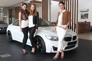 Nový model BMW řady M4 coupé patří České Miss World Tereze Skoumalové.