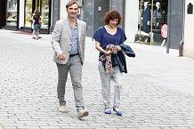 Jirka Macháček přijel na festival jako vždy s manželkou