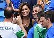 Mezi fanoušky na stadionu způsobila Alenina přítomnost pozdvižení
