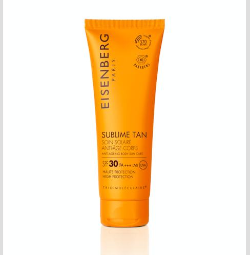 Lehký tělový krém s vysokým ochranným faktorem SPF 30 Sublime Tan, Eisenberg, k dostání v síti Sephora.