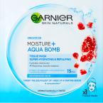 Superhydratační textilní maska AQUA BOMB, Garnier, cena 54 Kč.