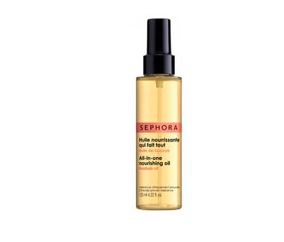 Pečující a vyživující olej na tělo, vlasy a obličej, Sephora, 290 Kč.