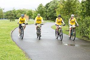 Bikeři na vyjížďce