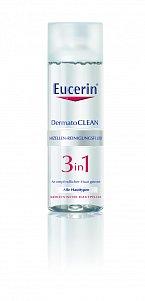 Čisticí micelární voda 3v1 DermatoCLEAN, Eucerin, cena 249 Kč.