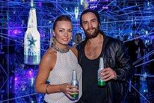 Markéta Jakšlová s přítelem Janem Plecháčem na afterparty k Designbloku v klubu Infinity.
