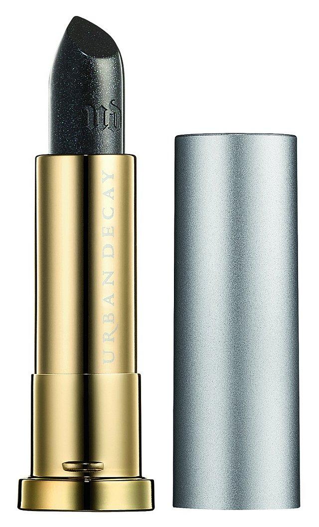 Vice Lipstick Vintage Capsule Collection se stříbrnými mikrotřpytkami odstín Oil Slick, Urban Decay, 580 Kč