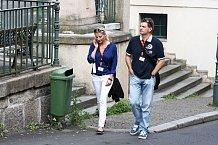 Tuhle dvojici často nevídáme. Jitka Kocurová a její manžel Tomáš Abraham.