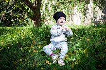 Prvním dětským modelem je samozřejmě Agátin syn Kryšpín