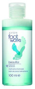 Koupel na nohy Multi Active Foot Soak s mořskou solí, Foot Works Avon, 100 ml 149 Kč