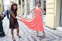 Gábina Kratochvílová s návrhářkou Beatou Rajskou