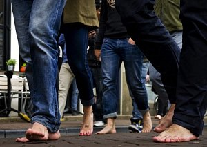 Participants of the One Day Without Shoe