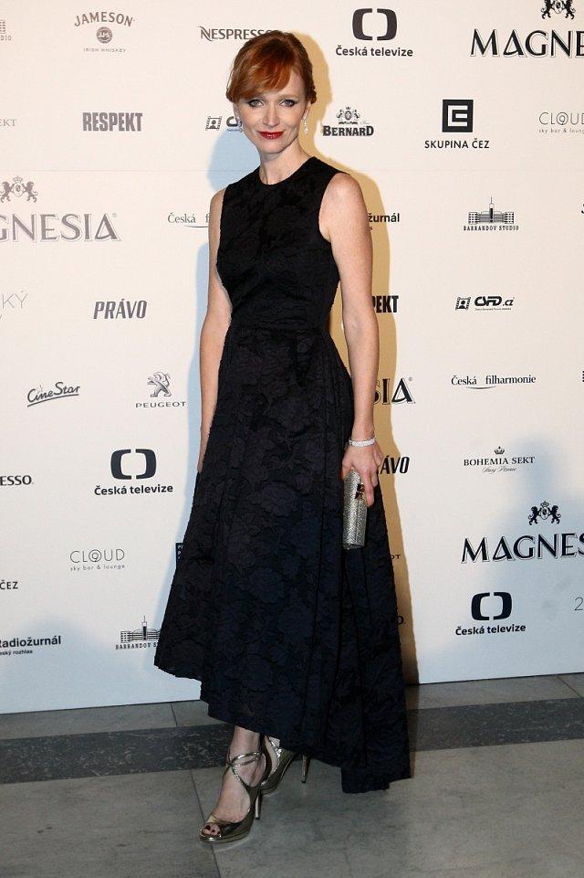 Aňa Geislerová zvolila róbu z kolekce H&M a šperky od ALO Diamonds za více než dva miliony korun.