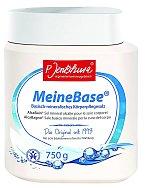 Zásaditá tělová sůl MeineBase® je vhodná k celotělovým a sedacím koupelím, ke sprchování a také ke koupelím nohou a rukou, 750 g 530 Kč.