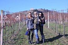 Počasí přálo i výletům mimo sklípek, děvčata si proto vyrazila na vinici.