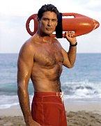 David se do podvědomí diváků dostal hlavní rolí v seriálu Pobřežní hlídka. Snímek pochází z roku 1989.