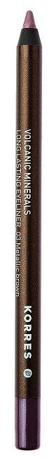 Tužka na oči Long Lasting Eyeliner s vulkanickými minerály odstín kovově hnědá č. 03, Korres, 249 Kč