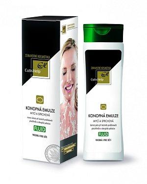 Mycí emulze FLUID je určena především na mytí a sprchování.