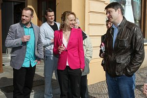 Herce ze seriálu přišel podpořit také ředitel televize Marek Singer.