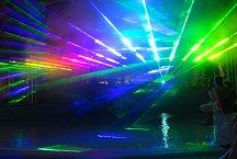 Laser show nabízí skutečně velkolepou podívanou