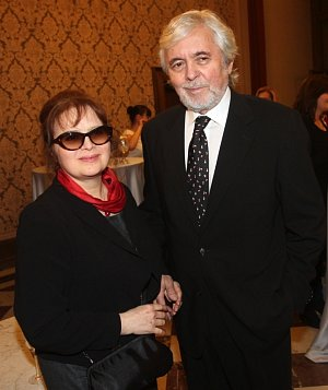 Herecký pár Libuše Šafránková a Josef Abrhám byl v dobrém rozmaru.