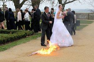 První díl seriálu Svatby v Benátkách ozdobila hořící Andrea Verešová.