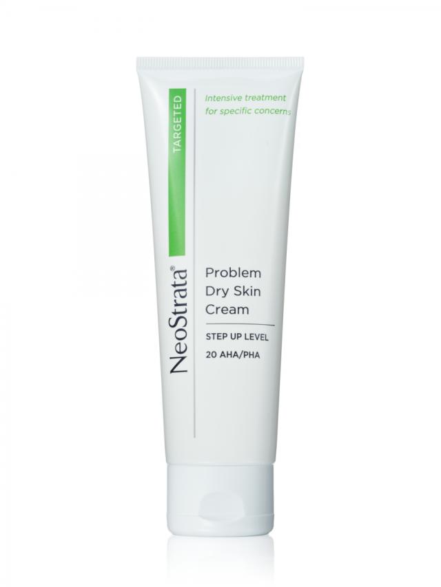 NeoStrata Problem Dry Skin Cream si poradí s extra silnou a zrohovatělou či popraskanou kůží na rukou, loktech, nohou i patách, www.neostrata.cz, 100 g za 650 Kč.