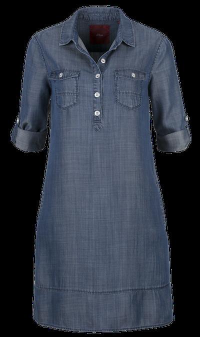 94800f0f20d Riflové šaty pro letní dny. Džínové šaty s.Oliver