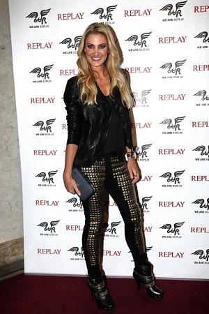 Modelka Kateřina Průšová nedá na džíny dopustit.