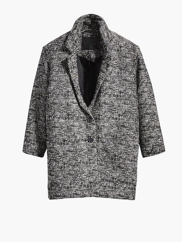 Kabát Levis, informace o ceně v butiku.