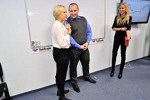 Švandová a Ochotská s ředitelem společnosti TeleTrade Robertem Kraftem