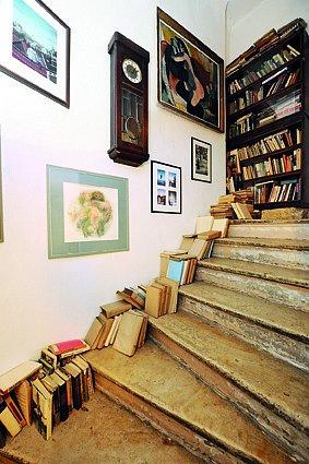 Právě kvůli tomuto schodišti herec dům koupil.