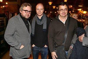 Parta lidí, kteří u českého filmu něco znamenají. Jan Hřebejk, Jan Budař a Michal Viewegh.
