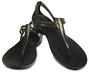 Černé sandálky Crocs Isabella T-strap Black, cena 1199 Kč, k dostání na www.urbanlux.cz.
