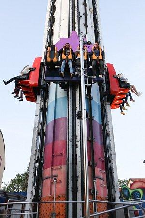 Atrakce v zábavním parku Gröna Lund nenechaly Romana v klidu.