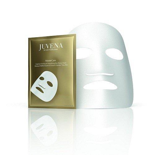 Textilní maska MasterCare Express Firming & Soothing Bio-Fleece Mask, balení obsahuje pět kusů, Juvena, cena 2990 Kč. K dostání v síti Fann.
