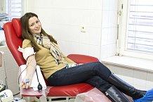 Eva Čerešňáková daruje krev pravidelně.