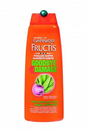Šampon Garnier Fructis Goodbye Dmage, 70 Kč. Doporučujeme zejména pro velmi poškozené vlasy.