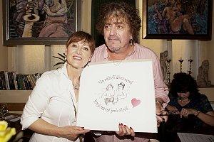 Petra Černocká se svým manželem Jirkou Pracným