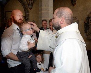 Hrdý tatínek Karel Vágner s mladším synem Brunem