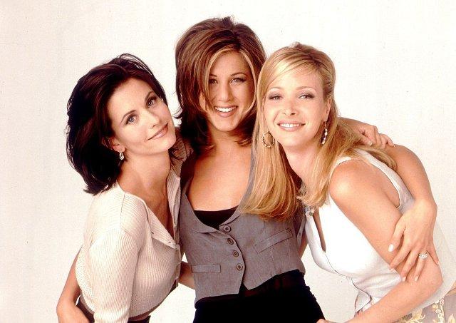 Hlavní představitelky seriálu Přátelé. V soukromém životě se z nich staly kamarádky.